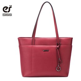 $enCountryForm.capitalKeyWord Australia - Luggage Handbags ECOSUSI New Casual Tote Women PU Leather Handbags Fashion Women Messenger Bags With Tassel Crossbody Bags Female Bolsa