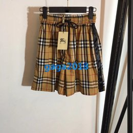$enCountryForm.capitalKeyWord NZ - women girls vintage check drawstring shorts pants plaid striped print jogging loose short skirt mini pant high-end fashion luxury dress