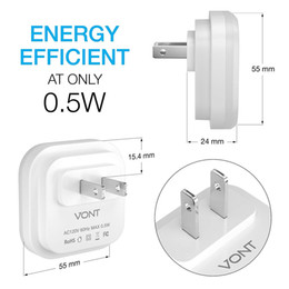 $enCountryForm.capitalKeyWord Australia - LED Night Light (Plug-In) Smart Dusk to Dawn Sensor - Automatic Night lights Suitable for Bedroom, Bathroom, Stairs,Kitchen