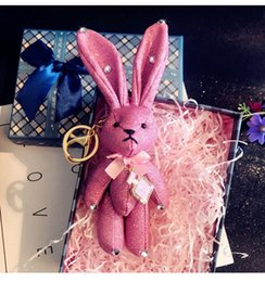 rabbit head costume UK - Creative cute silicone craft Marvel hero big head toy collection ornaments key chain wild key chain bag pendant accessories