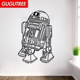 $enCountryForm.capitalKeyWord Australia - Decorate Home robot cartoon art wall sticker decoration Decals mural painting Removable Decor Wallpaper G-2204