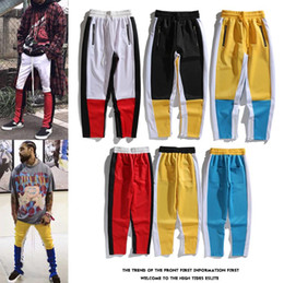 $enCountryForm.capitalKeyWord NZ - men Designer splice jeans Brand high quality Street hip hop trouser fashion locomotive couple mens clothing red box logo bosses snake 19ss