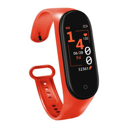use mi smart watch UK - M4 Smart Band Fitness Tracker Watch Sport bracelet Heart Rate Smart Watch 0.96 Smartband Monitor Health Wristband PK mi Band 4