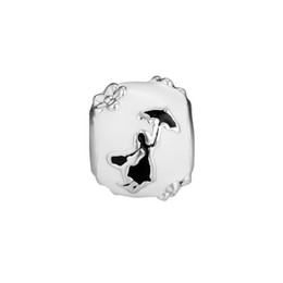 Chinese  2018 Winter New Authentic 925 Sterling Silver Bead Mary Poppins Silhouette Charm Fit Pandora Bracelet Bangle DIY Jewelry Girl Gift manufacturers