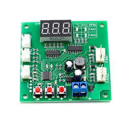 voltage controller 12v Australia - 2 Channel 4 Wire PWM Fan Temperature Controller PC Fan Motor Speed Controller LED Digital Thermostat DC 12V 24V Heat Sink