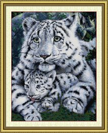 Tiger Tools Australia - Care tiger son and mother animal decor paintings ,Handmade Cross Stitch Embroidery Needlework sets counted print on canvas DMC 14CT  11CT