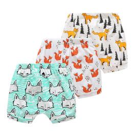 $enCountryForm.capitalKeyWord NZ - kids shorts 3 styles baby toddlers boy girl ins animal fox geometric figure short pants Cartoon printed Leggings kids designer clothes JY213