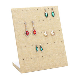 $enCountryForm.capitalKeyWord NZ - Jewelry Frame Red Black Beige Velvet Earrings Holder Earring Display Stand Jewelry Display Shelf Show Case Tray Organizer
