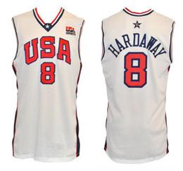 dc7dd38c0 2000 Olympic Team USA Tim Hardaway  8 Retro Basketball Jersey Mens Stitched  Custom Any Number Name Jerseys