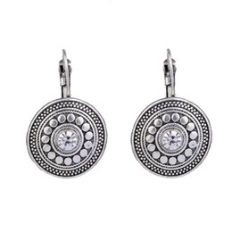 $enCountryForm.capitalKeyWord UK - MYTHIC AGE Antique Silver Color Carved Royal Vintage Ethnic Drop Dangle Clip on Earrings Retail Jewelry for Women Girls