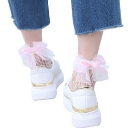 $enCountryForm.capitalKeyWord UK - Drop shipping 2019 Fashion New Ruffle Fishnet Ankle High Socks Women Girl Pricness Mesh Lace Socks Bow Knot Fish Net Short Socks 15pairs pcs