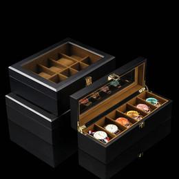 $enCountryForm.capitalKeyWord Australia - European Model Wooden Watch Storage Box Black Mechanical Watches Display Case With Glass New Women Jewelry Gift Cases