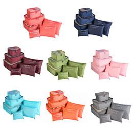 $enCountryForm.capitalKeyWord Australia - 6pcs Travel Storage Bag Set For Clothes Tidy Organizer Wardrobe Suitcase Pouch Travel Organizer Bag Case Shoes Packing Cube