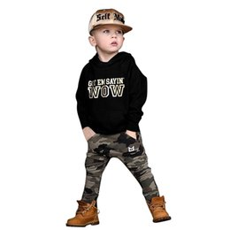 $enCountryForm.capitalKeyWord Australia - Kid Toddler Baby Boy Long Sleeve Hooded Sweater +Camouflage Pants Outfits Set #68P