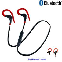 Wireless Sports Mp3 Australia - Wholesale Price Sport Bluetooth Earphone Ear Hook Headset MP3 MP4 Wireless Ear-mounted Stereo Running Earphone Super Bass Earbuds Sweatproof
