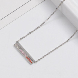 Hot Sale Gold 18k Australia - Brand diamond necklace love titanium steel 18K rose gold letter rectangle short necklace chain clavicle chain toque free shipping hot sale