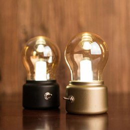 Wholesale LED Decorative Bulb Light Retro Night Light USB Rechargeable Bed Head Ambient Light Warm White Atmosphere