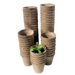 Fiber Pots Australia - 100Pcs Fiber Biodegradable Pulp Pots Plants Seedling Raising Pot Vegetable Fruit Nursery Tray Pot Cup Garden Supplies