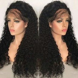 Human Hair Wig Beautiful NZ - Supper beautiful Brazilian virgin hair kinky curly full lace wig 130% density remy human hair with natural hair line