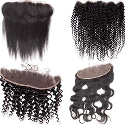 $enCountryForm.capitalKeyWord Australia - Best Virgin Human Hair Lace Frontal Closures Bleached Knots Burmese Cambodian Mongolian Wavy Curly Straight Real Hair Products 13x4 Free