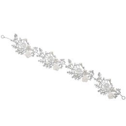 $enCountryForm.capitalKeyWord UK - Wedding Party 30x4cm hair jewelry beaded flower leaf headwear of bride crown diamond headwear for bride acting initiation graduation RS-293