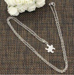 $enCountryForm.capitalKeyWord Australia - New Fashion Tibetan Silver jigsaw puzzle Charms Pendant Necklaces charms For Women Choker Gothic Vintage Jewelry