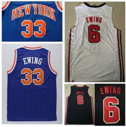 4b4169324d7 HOT-SALE embroidery HIGH-QUALITY  33 Patrick Ewing Jersey Blue White  6  Patrick Ewing Dream one Team men shirts Stitched