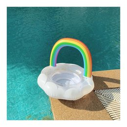 $enCountryForm.capitalKeyWord NZ - Children's Cloud Rainbow Swimming Pool Beach Inflatable Float Bed Inflatable Swim Ring Pool Aid Trainer Leakproof buoyancy lifebuoy