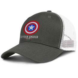 Shield Ball Australia - Popular Mesh Visor cap Men Women-Captain America Logo Shield designer hat snapback Adjustable Summer hat Outdoor