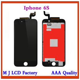 Iphone Glasses Display Australia - 100% No Dead Pixel LCD For iPhone 6s OEM Display 3D Touch Digitizer Pre-assembled White Black+ Glass