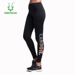 $enCountryForm.capitalKeyWord Australia - 2017 Sale Sports Tights Women Bronzing Letters Stretch Quick-drying Yoga Trousers Running Compression Pants Fitness Gym Female