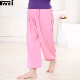 Red Wide Leg Pants Australia - wholesale 2-14Y Children Loose Pant Spring Summer Kids Girl Casual Solid Trousers Teenager Boy Ankle Length Wide Leg Pants 8 10