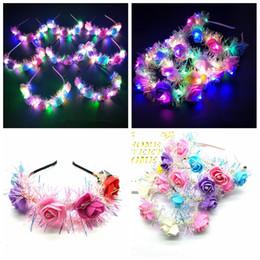 $enCountryForm.capitalKeyWord Australia - Flower LED Light Crown Women Floral Headbands Glowing Headband for Party Wedding favor FFA2336