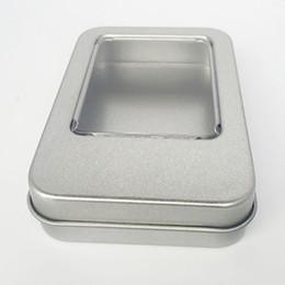 $enCountryForm.capitalKeyWord Australia - Arts Craft Jewelry Rectangular Storage Window Tin Box Organizer Sewing Hinged Jar Survival Kit