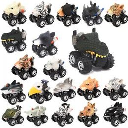 Mini plastic aniMal toys online shopping - Animal Head Shape Car Model Mini Pull Back Cartoon Vehicle Toy animal Shaped Vehicles Plastic Wind UP Car Toy TTA153
