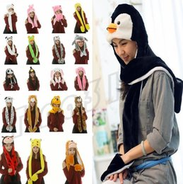 Pikachu Woman Costume Australia - Hot Cartoon scarfs plush Pikachu Scarves Hat Sets Women Costume cute hats With Long Scarf Gloves Earmuffs warm hats Party Hats I485