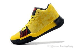 a6d085183eec Top Quality Mens Irving 3 Casual Shoes MM Bruce Lee Yellow Mamba Mentality  Classic Kyrobe Yellow Black Outdoor 40-46
