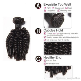 Tight Kinky Hair Australia - 100% Human Hair Weaves Aunty Funmi Tight Kinky Curly Virgin Hair Extensions Funmi wave with natural Color