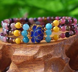 $enCountryForm.capitalKeyWord NZ - Natural tourmaline bracelet Fireproof blue crystal bracelet 4mm gemstone tourmaline three-ring chain