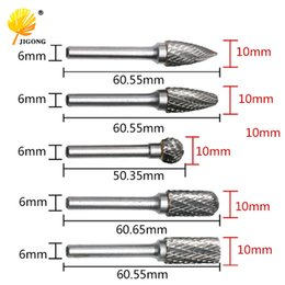 $enCountryForm.capitalKeyWord Australia - rotary file JIGONG 5pcs Set CNC Tool Grinders Accessories Tungsten Carbide Rotary File Woodworking Milling Cutter Polishing Head 6x10mm