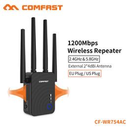 Vente en gros COMFAST 1200Mbps Home Wireless Extender Router Wifi 5Ghz Long Wifi Range Extender 4 * 2dbi Antenne CF-WR754AC
