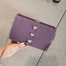 Purple Fur Handbag Australia - 2019 New High Quality Lock Retro Fashion Design Chain Women's Handbag Faux Fur Shoulder Messenger Box Crossbody Tote Bag 331