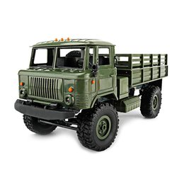 Electric Road Cars UK - Wpl B -24 Gaz -66 Diy 1 :16 Rc Climbing Military Truck Mini 2 .4g 4wd Off -Road Rc Cars Off -Road Racing Car Rc Vehicles Rtr Gift Toy