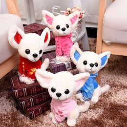 Dog christmas presents online shopping - Hot Sale cm Lovely Chihuahua Dog Plush Toy Stuffed Children Best Present Colors