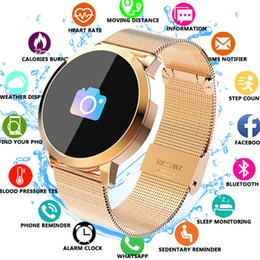 Q8 Smart Watch Australia - Q8 Fitness Tracker Women Smart Watch Men Smartwatch Ip67 Waterproof Bracelet Heart Rate Monitor Sport Wristband For Android Ios C19041001