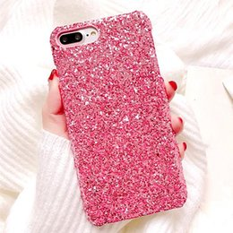 $enCountryForm.capitalKeyWord NZ - Bling Powder Bling Siliver Phone Case for Iphone X XS MAX XR 8 7 6 6s 5 5S Plus Cellphone Bulk Luxury Sparkle Rhinestone Crystal Cover Pink