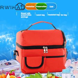 $enCountryForm.capitalKeyWord Australia - Cooler Carrier Thermal Handbag Bag Double Layers Thermo Lunch Picnic Breast Milk Preservation Waterproof Nylon Practicalr