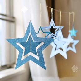 $enCountryForm.capitalKeyWord Australia - 7 pcs  set Christmas Decorations Hollow Star Hanging Pentagram Bar Ceiling Home Ornaments Xmas Party Christmas Decor