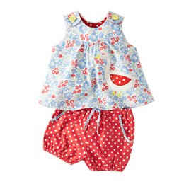 Toddler Sets Clothing NZ - Baby Girls Sets Summer Children Clothing Brand Kids Tracksuit for Girls Clothes Animal Applique Tops Toddler Girls Short Sets
