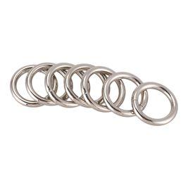 Discount backpack hangers - Metal O Shaped Handbag Backpack Ring Buckle 28mm Dia 7Pcs Silver